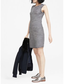 Italian Tweed Bias Cut Shift Dress by Banana Repbulic