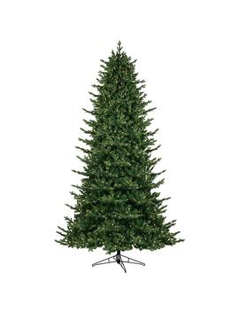 9 Ft. Just Cut Canadian One Plug Artificial Christmas Tree With Warm White Led Lights by Ge