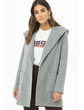 Brushed Hooded Coat by Forever 21