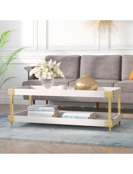 Willa Arlo Interiors Blais Coffee Table With Tray Top & Reviews by Willa Arlo Interiors