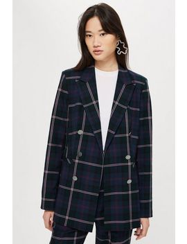 Tall Double Breasted Check Jacket by Topshop
