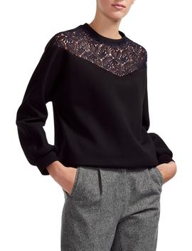 Tepina Lace Sweatshirt by Maje