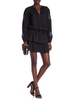 Winnie Lace Panel Tiered Skirt Dress by Ramy Brook
