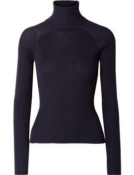 Ribbed Baby Alpaca Turtleneck Sweater by Carcel