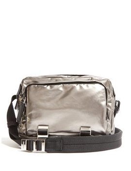Metallic Nylon Cross Body Bag by Prada