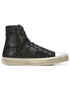Sunset Vintage Glitter Sneakers by Amiri