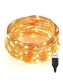 Cynkie Led String Lights, Waterproof Fairy String Lights 100 Leds 33ft Starry String Lights Usb Powered Copper Wire Lights by Cynkie