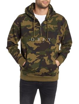 Reason Anorak Half Zip Embroidered Hoodie by Obey