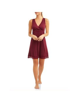 Nurture By Lamaze Maternity Nursing Full Coverage Sleep Chemise   Available In Plus Size by Nurture By Lamaze