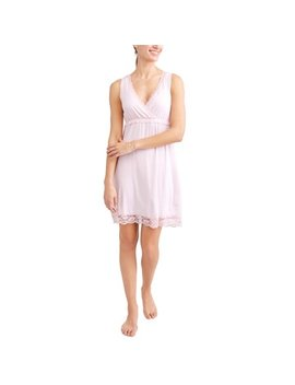 Maternity Nursing Full Coverage Sleep Chemise    Available In Plus Sizes by Nurture By Lamaze