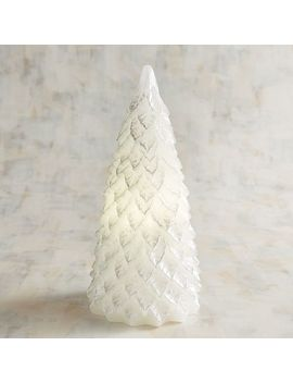 Large White Tree Led Candle by Pier1 Imports