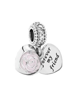 Sterling Silver, Cubic Zirconia & Enamel Forever My Friend Charm by Pandora