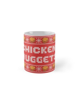 Chicken Nuggets Christmas Pattern by Luna May
