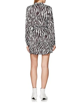 Zebra Print Tie Waist Dress by Robert Rodriguez