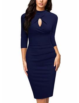 Miusol Women's Business Slim Style Ruffle Work Pencil Dress by Miusol