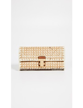 Rattan Clutch by Tory Burch