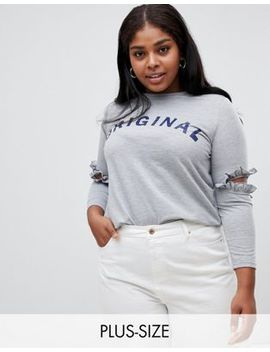 Koko Slogan T Shirt With Cut Out Elbows by Asos Brand