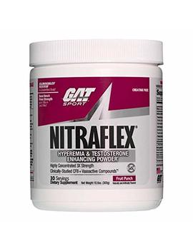 Gat Clinically Tested Nitraflex, Testosterone Enhancing Pre Workout, Fruit Punch,300 Gram(Contains Caffeine) by Gat
