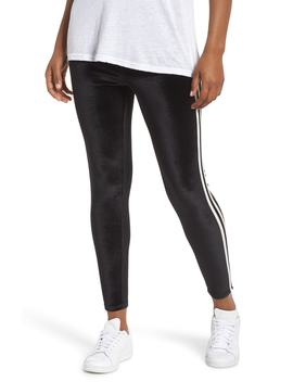 Stripe Velvet Leggings by Nordstrom