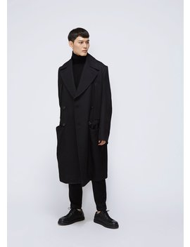 Priestly Double Breasted Coat by Ann Demeulemeester