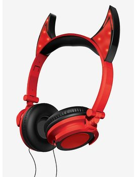 Red Led Devil Headphones by Hot Topic