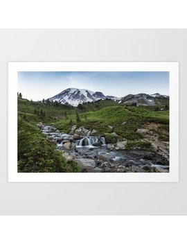 Edith Creek And Mount Rainier Art Print by