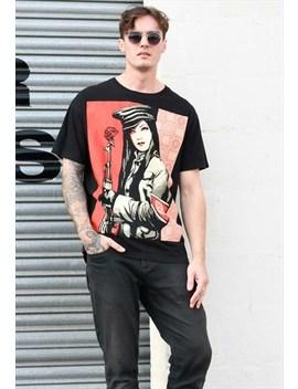 T Shirt by Obey Big Graphic Black T Shirt