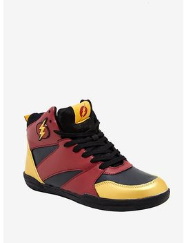 Dc The Flash Red Basketball Sneakers by Hot Topic