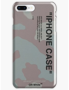 "Off White C/O Virgil Abloh Off White Camo Camouflage Quote ""Iphone Case"" I Phone Case Genuine by Shimchi"