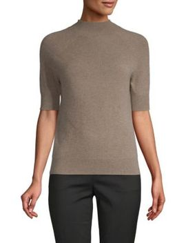 Mockneck Cashmere Sweater by Cashmere Saks Fifth Avenue