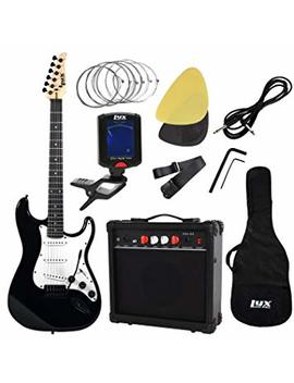 Lyx Pro Complete Beginner Starter Kit Pack Full Size Electric Guitar With 20w Amp, Package Includes All Accessories, Digital Tuner, Strings, Picks, Tremolo Bar, Shoulder Strap, And Case Bag by Lyx Pro