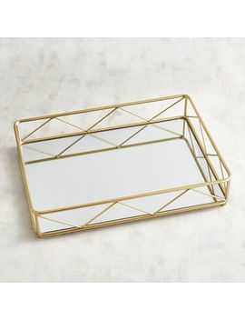Modern Golden Mirrored Serving Tray by Pier1 Imports