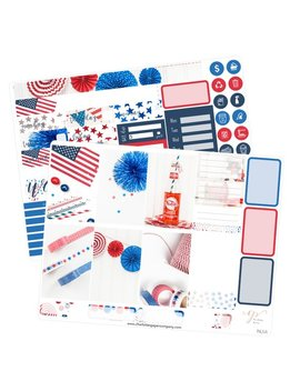 Phl5 || Big Happy Planner Stickers / Fourth Of July Stickers / Planner Stickers / Summer Planner Stickers / Weekly Sticker Kit / Photo Kit by Etsy