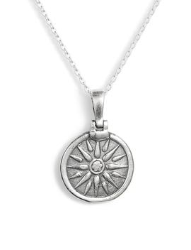 Sun Coin Pendant Necklace by Argento Vivo