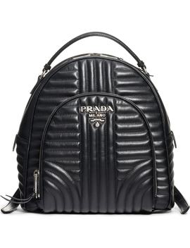 Impunture Leather Backpack by Prada