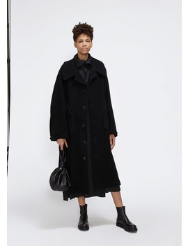 Big Pocket Wool Coat by Y's By Yohji Yamamoto