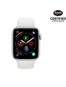 Apple Watch Series 4 (Gps) 44mm Silver Aluminium Case With White Sport Band   Open Box by Apple