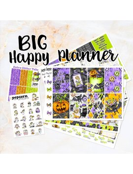 Sale   2 Cute To Spook Halloween Set Kit Weekly Stickers   For Big Happy Planner by Etsy