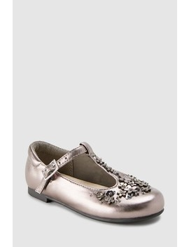 Flower T Bar Shoes (Younger) by Next