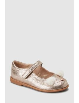 Gold Bear Mary Jane Shoes (Younger) by Next