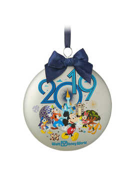 Mickey Mouse And Friends Glass Disk Ornament   Walt Disney World 2019 by Disney