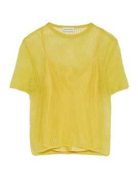 Layered Open Knit Top by Mansur Gavriel