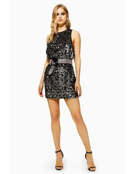 Animal Sequin Mini Dress by Topshop