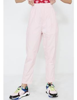 Lo Pink Peggy Trousers by Lazy Oaf