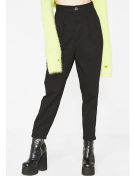 Lo Black Peggy Trousers by Lazy Oaf