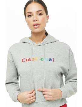 Emotional Graphic Hoodie by Forever 21