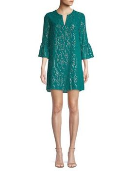 Elenora Metallic Silk Tunic Dress by Lilly Pulitzer