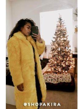 Whats The Tea Oversized Faux Fur Coat by Akira