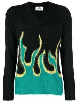 Flame Knit Jumper by Prada