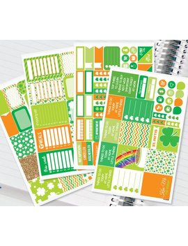 St. Patricks Day Planner Stickers Weekly Kit For Erin Condren Recollections &Amp; Happy Planner   134 Stickers (#12,017) by Etsy
